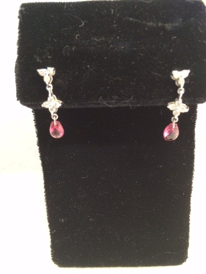 Other Pink Sapphire, diamond and white gold dangle
