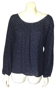 Ann Taylor LOFT Top Navy/Cream