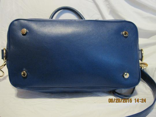 Rebecca Minkoff Mini M.a.b. Morning After Leather Satchel in Electric Blue