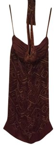 BCBGMAXAZRIA short dress Brown Print on Tradesy