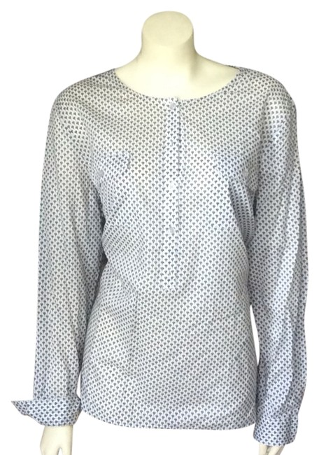 Preload https://item2.tradesy.com/images/ann-taylor-loft-whitenavy-blouse-size-16-xl-plus-0x-3891766-0-0.jpg?width=400&height=650