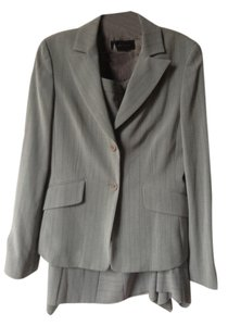 BCBGMAXAZRIA Grey striped skirt suit