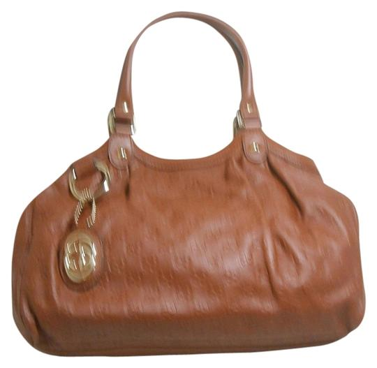 Gucci Ssima Satchel Shoulder Prada Tote in Caramel Brown