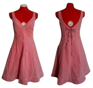 Anthropologie short dress Pink Maeve Red Contrast on Tradesy