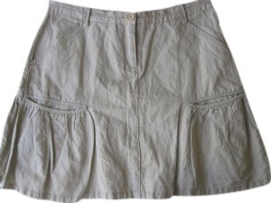 Max Studio Mini Skirt Khaki