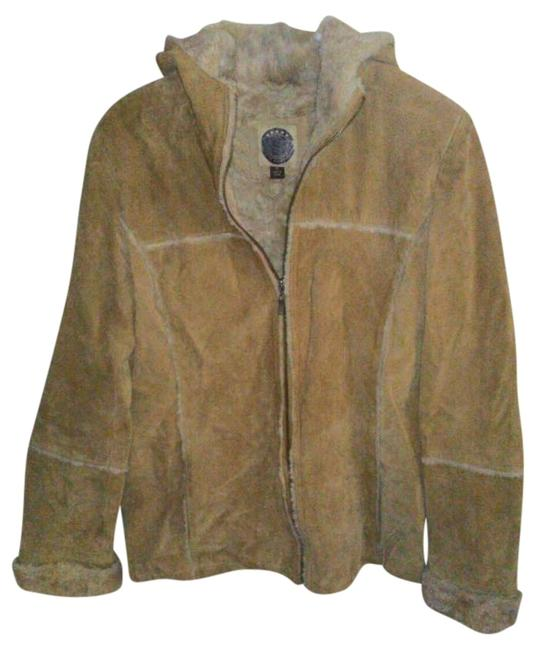 Giacca Light Brown Leather Jacket