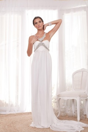 Anna Campbell Ivory Silk Alexandra Destination Wedding Dress Size 6 (S) Image 7