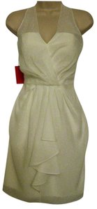 Vince Camuto short dress Off-White Nwt - Halter Polyester on Tradesy