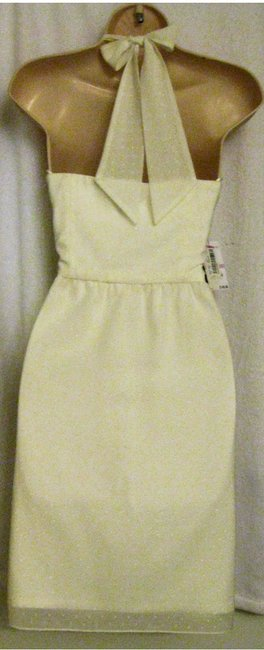Vince Camuto short dress Off-White - Halter Polyester Sundress on Tradesy