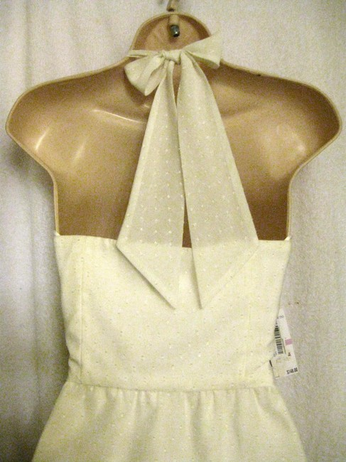 Vince Camuto short dress Off-White Nwt - $148 Halter Polyester on Tradesy