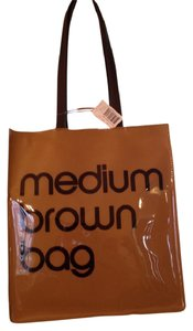Bloomingdale's medium brown New Vinyl Tote in Brown