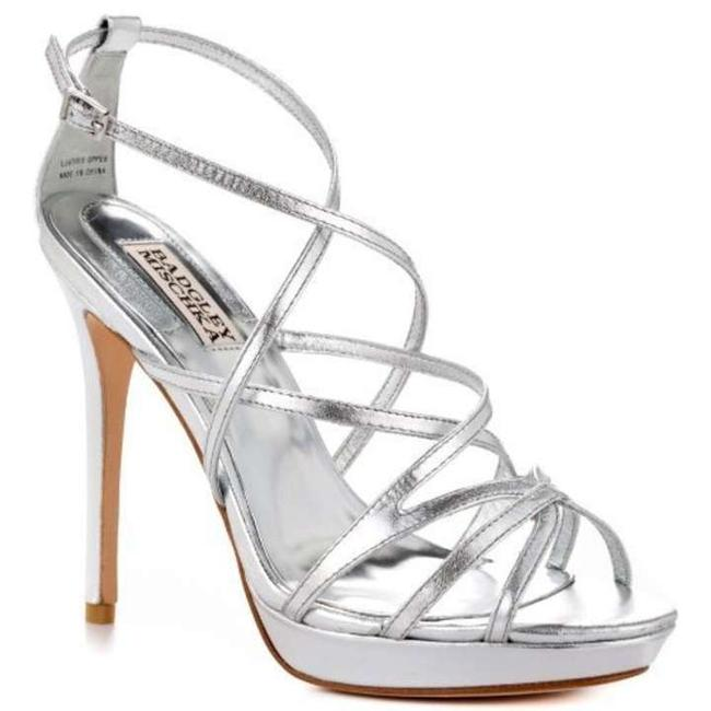 Item - Silver Strappy Inch Heel Sandals Size US 7