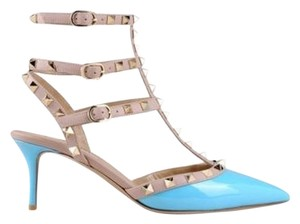 Valentino Rockstud 40 Chanel 40 Manolo 40 Gucci 39 Turquoise Pumps