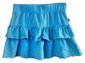 Ezekiel Cotton Elastic Ruffle Mini Skirt blue