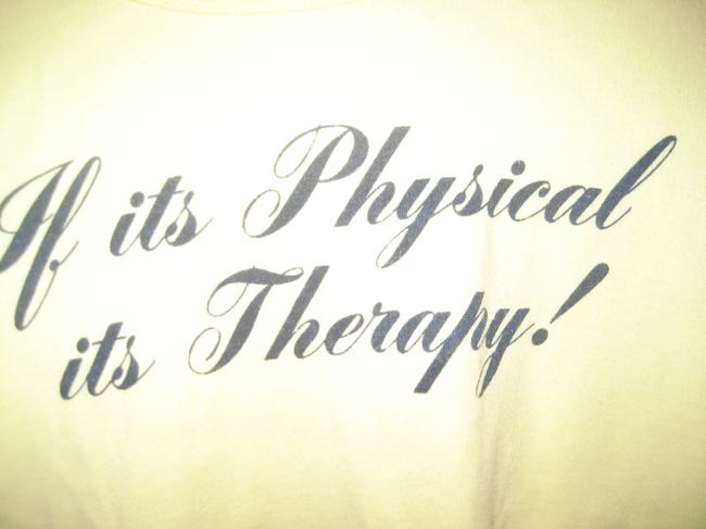 Other Machine Wash Cotton Polyester Physical Therapy T Shirt yellow