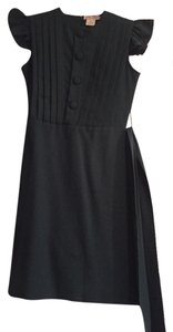 Shumaq Straightskirt Belted Fitted Short Dress