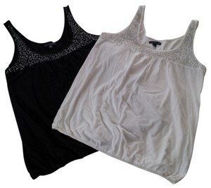 American Eagle Outfitters Beaded Top black & ivory