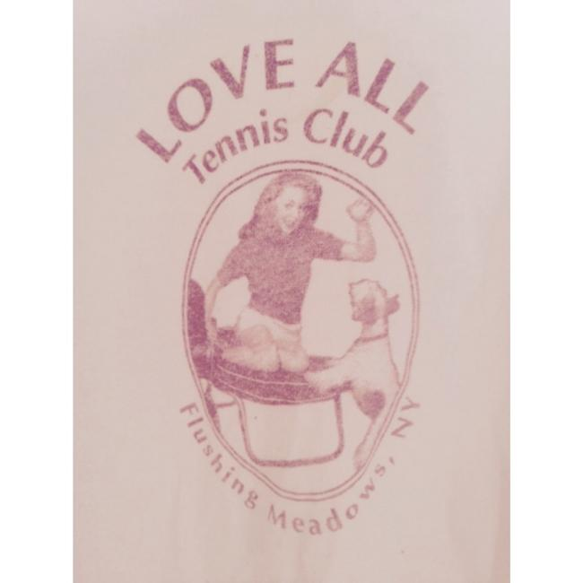 Jake's Love All Dog Vintage Tennis Club Flushing Meadows New York Tennis Basic Casual T Shirt White