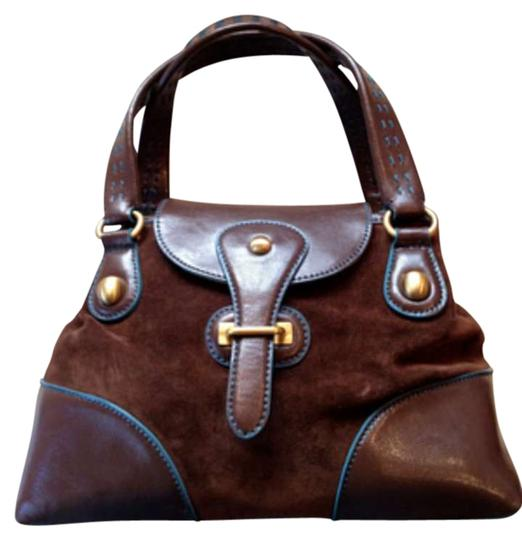 Preload https://img-static.tradesy.com/item/38937/maxx-new-york-brown-suede-with-leather-satchel-0-0-540-540.jpg