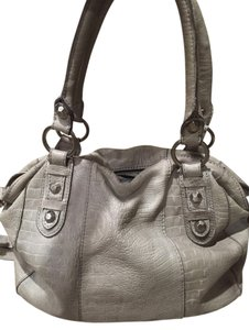 Linea Pelle Cross Body Satchel in Grey