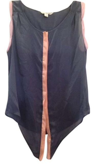American Eagle Outfitters Sheer Sleeveless Top Blue, lavender, coral
