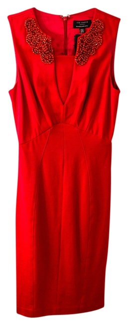 Preload https://item3.tradesy.com/images/ted-baker-jeweled-detail-dress-red-3894442-0-0.jpg?width=400&height=650
