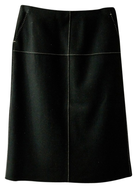 Preload https://item2.tradesy.com/images/jcrew-knee-length-wool-skirt-black-with-white-stitching-3894511-0-0.jpg?width=400&height=650