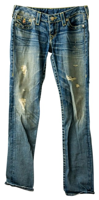 True Religion Distressed Relaxed Fit Jeans-Distressed