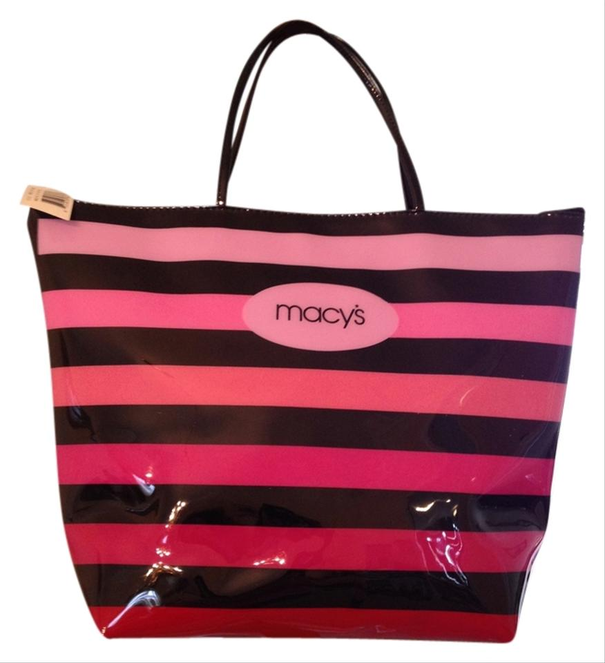 Macy's Large Zip Shades Of Pink With Black Tote Bag on Sale, 21 ...