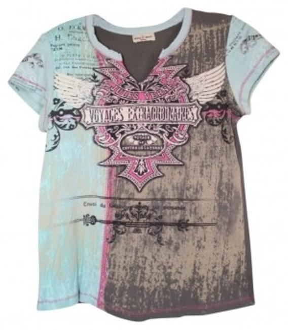 Preload https://item2.tradesy.com/images/skinny-minnie-multicolor-sexy-studded-tee-shirt-size-8-m-38956-0-0.jpg?width=400&height=650