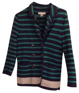 Banana Republic Preppy Striped Navy/Teal Blazer