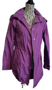 dELiA*s Raincoat Hooded Purple Jacket