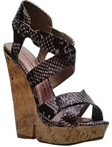 Chinese Laundry Snake Print Cork Wedges