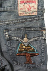 True Religion Cut Off Shorts blue denim