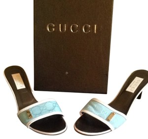 Gucci Sea Blue/white Sandals