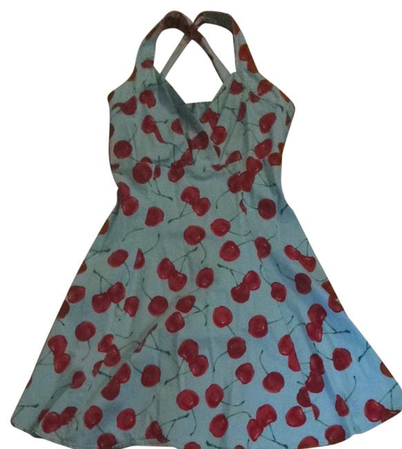Xappeal short dress Light Blue With Cherries on Tradesy