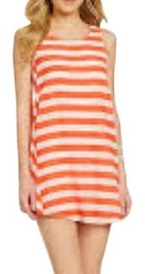 BB Dakota short dress Orange Striped on Tradesy