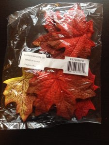 Fall Colors Faux Leaves Reception Decoration