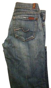 7 For All Mankind Crystal Boot Cut Jeans-Medium Wash