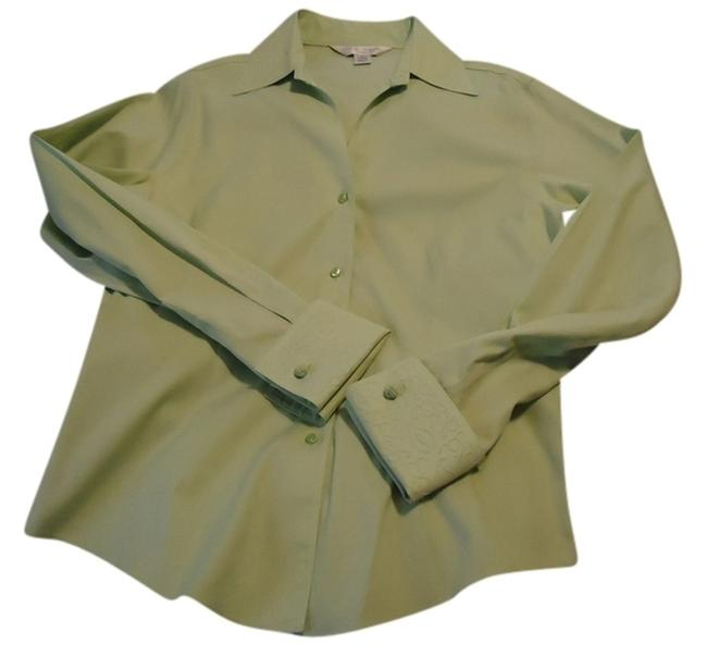 Casual Corner Top pale lime green Image 1