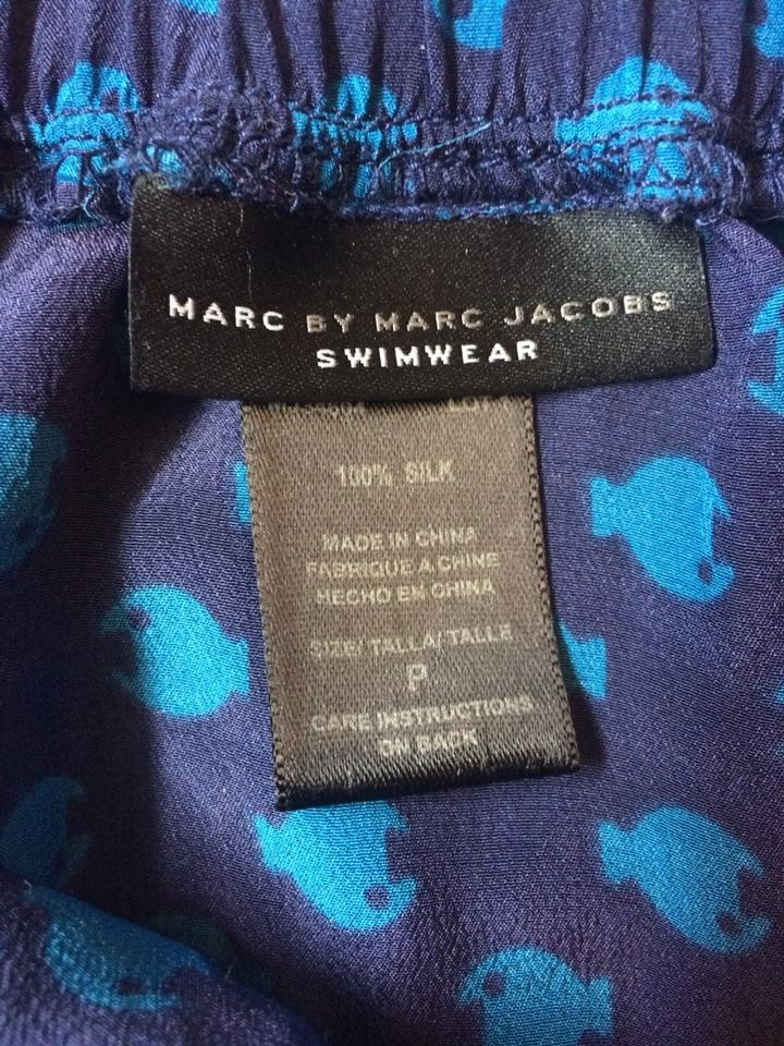 c1faebd312e Marc by Marc Jacobs Navy Blue Swimwear Skirt Cover-up/Sarong Size 4 (S) -  Tradesy