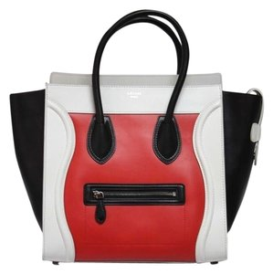 Céline Tricolor Smooth Leather Tote in Multi