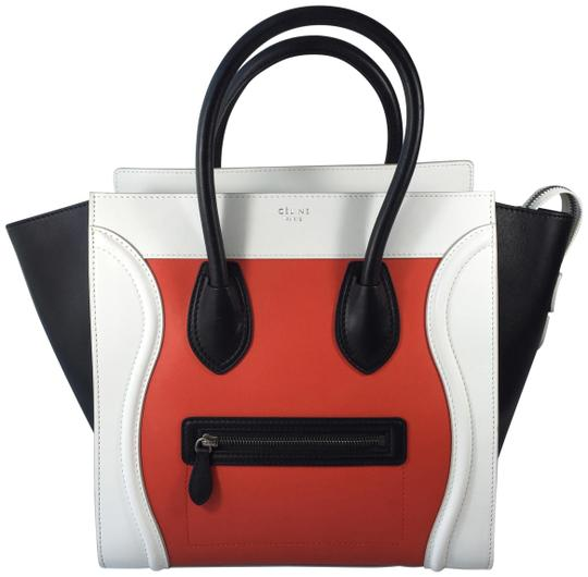 Céline Smooth Leather Tote in Tricolor