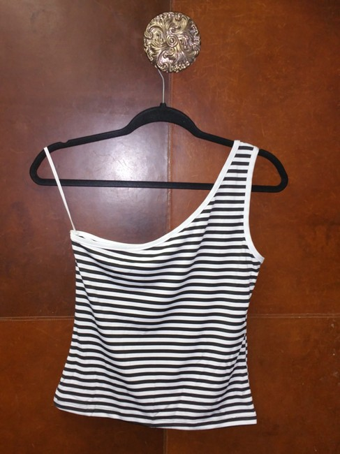Finesse black and white Halter Top