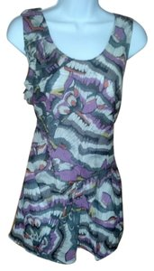 Edme & Esyllte Anthropologie Butterfly Top Lavender & Multi