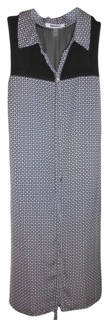 Preload https://img-static.tradesy.com/item/3899125/dkny-black-and-white-a-sheer-short-workoffice-dress-size-14-l-0-15-650-650.jpg