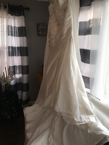 Pronovias White Taffeta Dakota Formal Wedding Dress Size 18 (XL, Plus 0x)