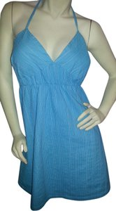 Mossimo Supply Co. short dress blue Halter Cotton Sundress Summer on Tradesy