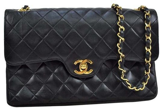 Preload https://item4.tradesy.com/images/chanel-classic-flap-classic-lambskin-double-chain-black-lamb-leather-shoulder-bag-3899698-0-3.jpg?width=440&height=440