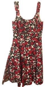 White House | Black Market Vintage Floral Tank Pockets Roses Retro Dress
